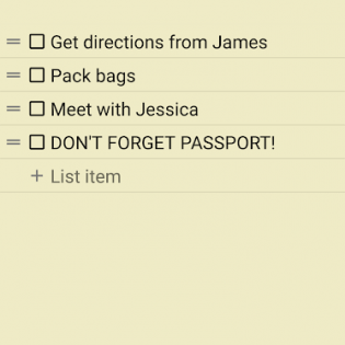 Notepad & To Do List screen 3