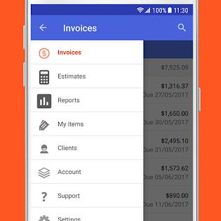 Invoice & Estimate on the Go screen 2