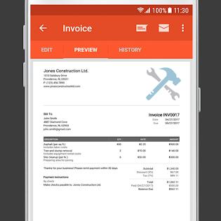 Invoice & Estimate on the Go screen 3