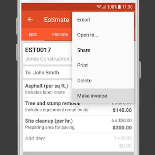 Invoice & Estimate on the Go screen 6