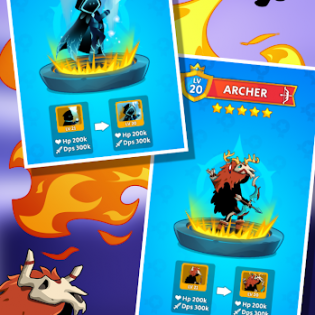 Stickdom Idle: Taptap Titan Clicker Heroes screen 2