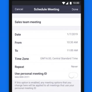 ZOOM Cloud Meetings screen 5